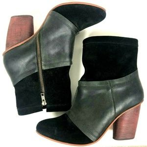 Leather Suede Mid boot J Shoes Anthropologie